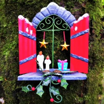star xmas fairy window