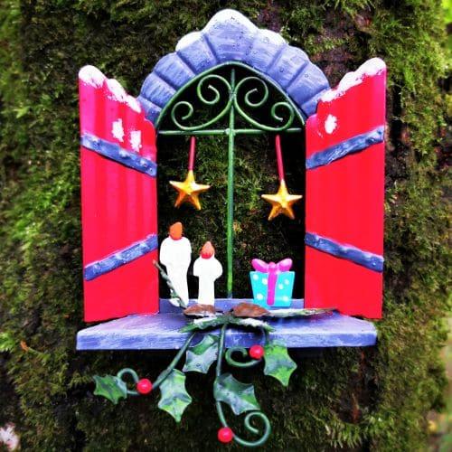 star xmas fairy window