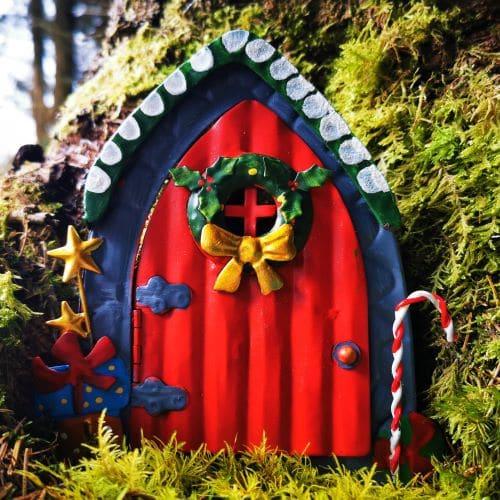 red christmas fairy door