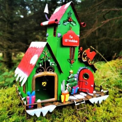 elf workshop house xmas