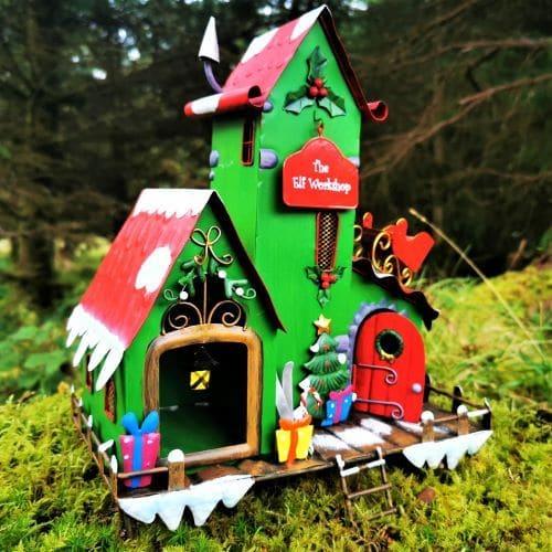 elf workshop house xmas
