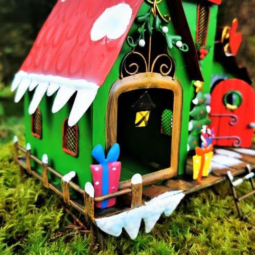metal elf fairy house