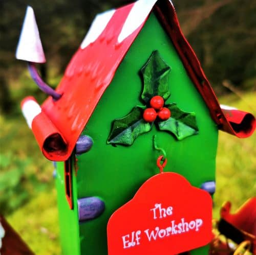 elf workshop sign