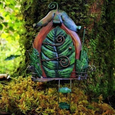 leaf fairy door