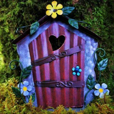 door for fairy flower garden