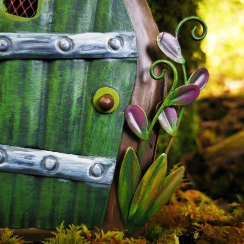 metal green fairy door
