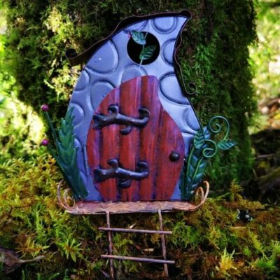 metal irish fairy door