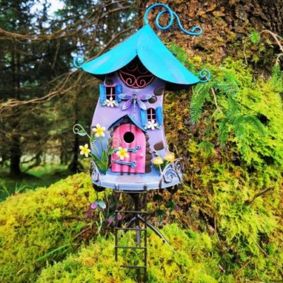 dragonfly metal fairy house