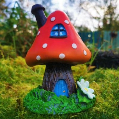 red toadstool incense burner