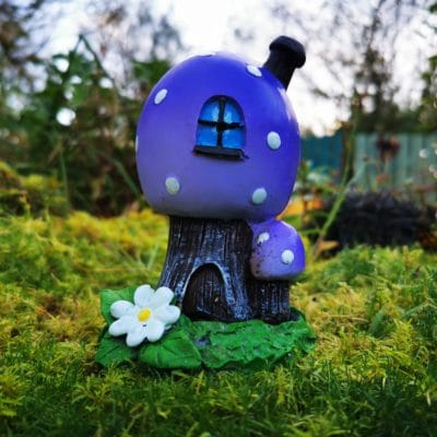 purple fairy incense burner