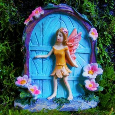 dinky fairy door blue