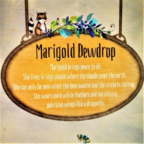 marigold dewdrop fairy house
