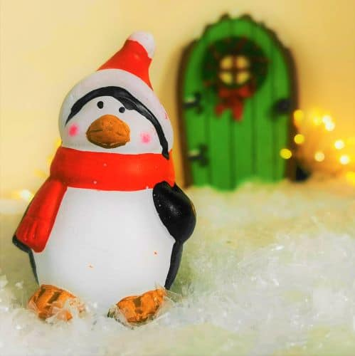 penguin christmas figure