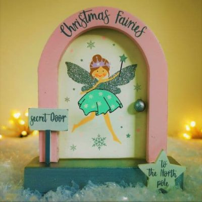 north pole christmas fairy door