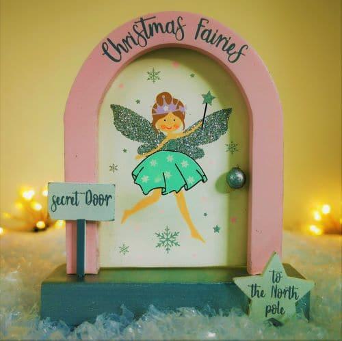 north pole christmas fairy door