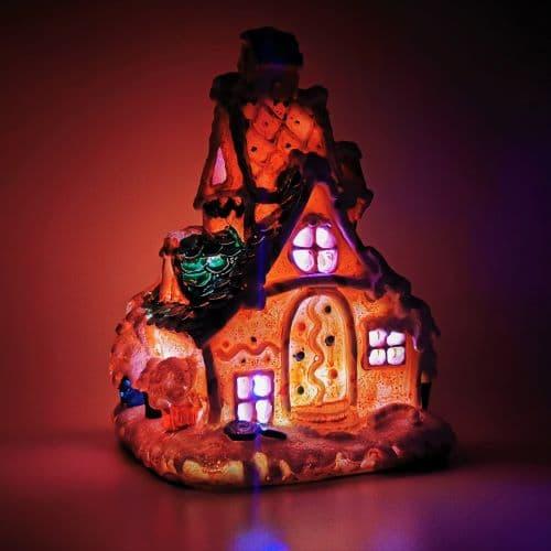 gingerbread christmas fairy house