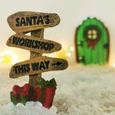fairy door christmas sign