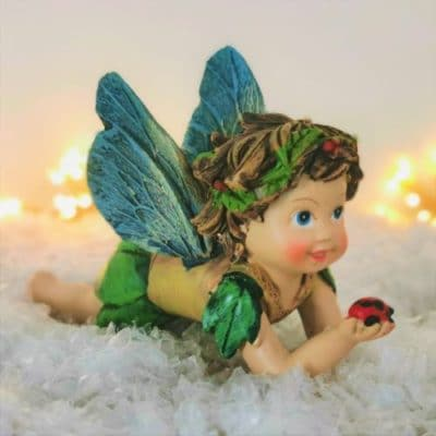fairy with ladybird ornament
