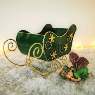 green fairy christmas sleigh