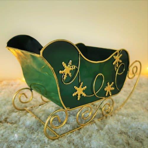 miniature christmas sleigh