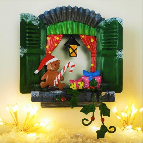 christmas metal fairy window