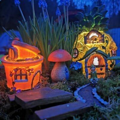 solar fairy garden