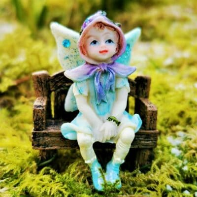 blue sparkly fairy figure
