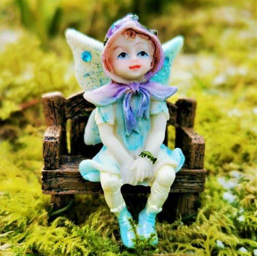 blue sparkly fairy figure