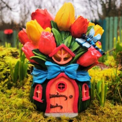 tulip solar fairy house