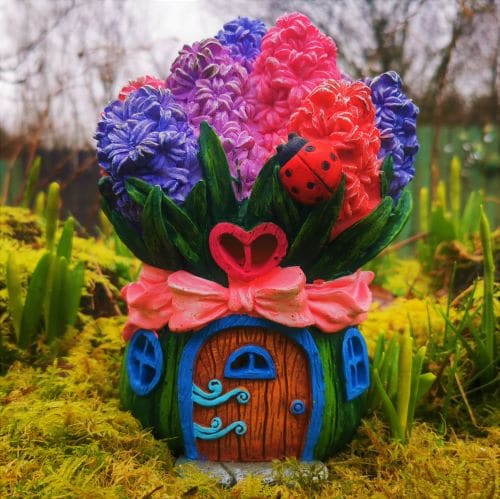 hyacinth solar fairy house