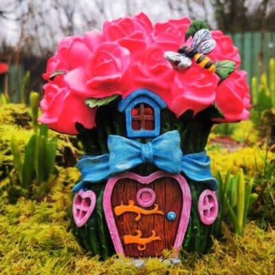 rose fairy house