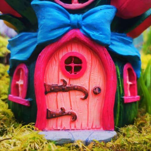 pink fairy door of the solar house