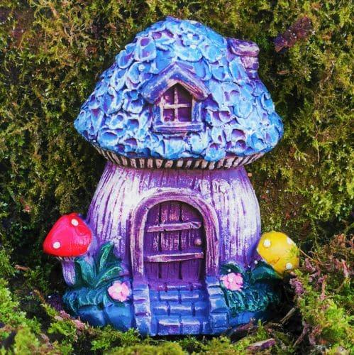 small blue fairy door