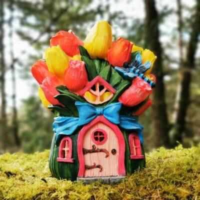 fairy garden solar house