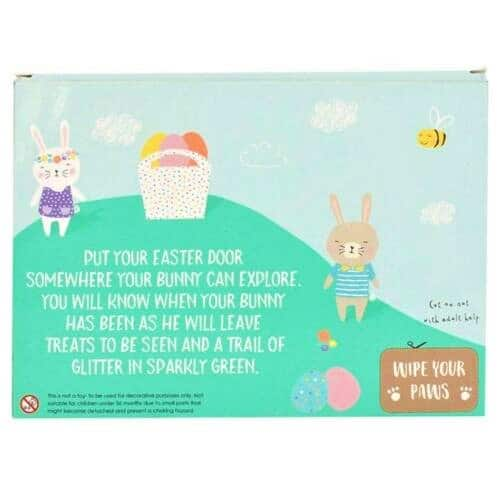 easter door box with cut out mat