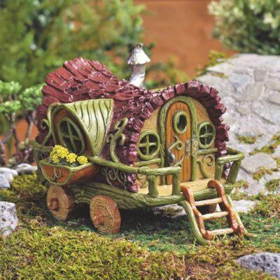 fairy garden gypsy wagon
