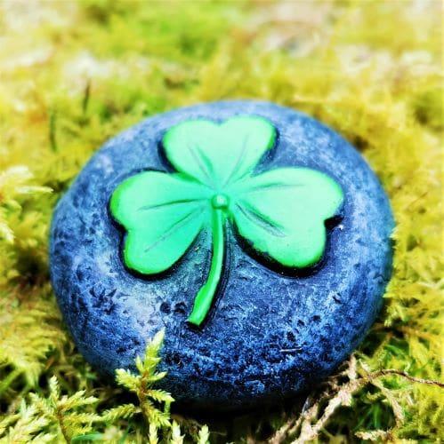 irish lucky shamrock stone
