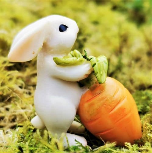 bunny and carrot figure