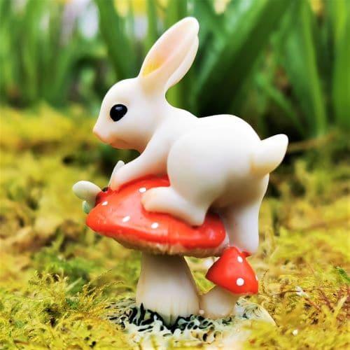bunny and mushroom ornament