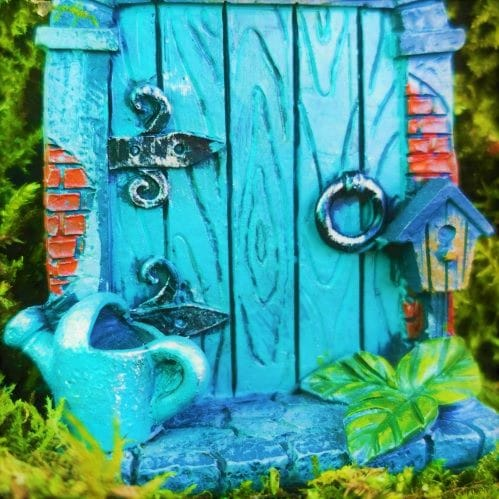 small blue budget fairy doors