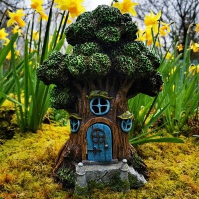 fairy tree with door