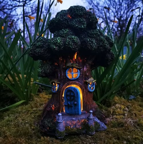 fairy house at night