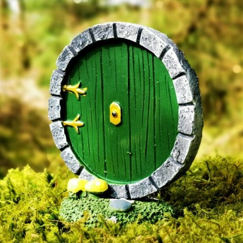 green Irish fairy door