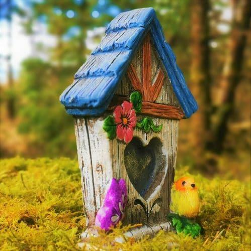 blue fairy birdhouse