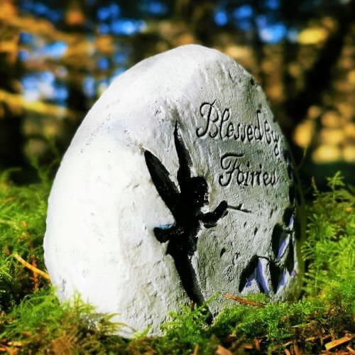 fairy garden stone sign