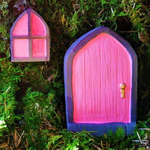 pink irish fairy door