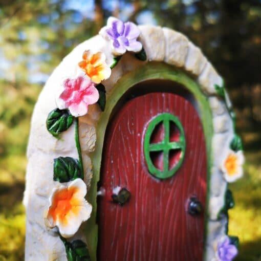 flowers on fairy door