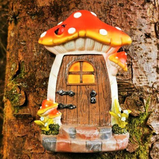 fairy door attached to tree