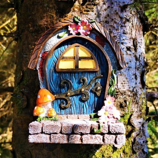 attach fairy door tree