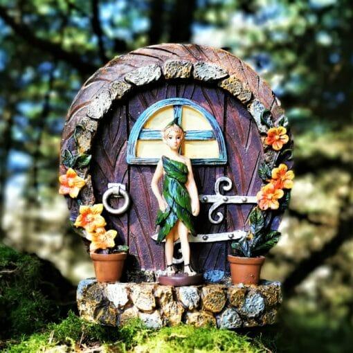 fairy portal door with ornament